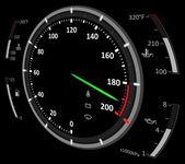 Speedometer illustration — Stok fotoğraf