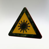 Warning Sign -Laser Radiation — Stock Photo