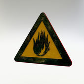 Warning Sign - Flammable Material — Stok fotoğraf