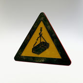 Warning Sign - Overhead Load — 图库照片