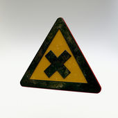 Warning Sign - Harmful or Irritant Materials — Stock Photo