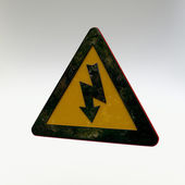 Warning Sign - Electricity — Stock Photo