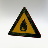 Warning Sign - Flammable Material 2 — Stok fotoğraf