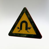 Warning Sign - Strong Magnetic Field — Foto de Stock