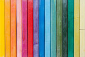 Bright line of oil pastels — Stok fotoğraf