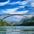 Bridge Crossing River - Stock Photo