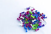 Colorful Thumbtacks — Stock Photo