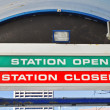 Station Open Station Closed. — Stock Photo