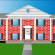 Royalty-Free Stock Vectorafbeeldingen: Big Brick House