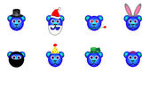 Blue Holiday Bears — Stock Vector