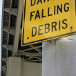 Stock Photo: Danger Falling Debris