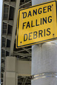 Danger Falling Debris — Stock Photo