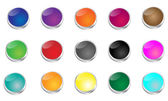 Glossy Punch Buttons — Stock Vector