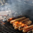 Stock Photo: Grilling Hotdogs