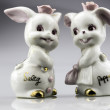 Stock Photo: Vintage Salt and Pepper Shakers