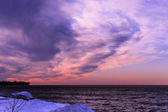 Pink Winter Sunset  — Stock Photo