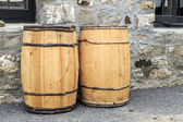 Hand Crafted Water Barrels — Stock Photo