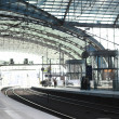 Contemporary train station — Stock Photo