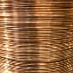 Copper wire spool — Stock Photo
