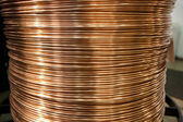 Copper wire spool — Stock Photo