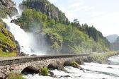 Waterfall in Norway — Stock Photo