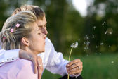 Blow for luck — Stock Photo