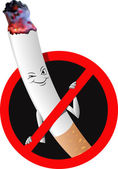 "Vector signs ban ""no smoking"" — Stock Vector"