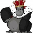 Stock Vector: Formidable monkey in crown