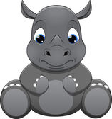 Vector cute rhino — Stock Vector