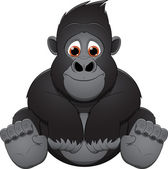 Cute baby gorilla — Stock Vector