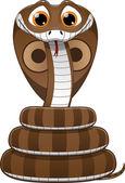 かわいい赤ちゃんのコブラ — ストックベクタ