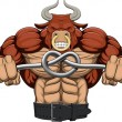 Stock Vector: Illustration: a strong angry bull