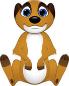 Cute baby meerkats — Stock Vector
