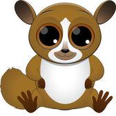 Lémur lindo bebé — Vector de stock