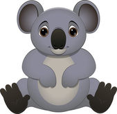 Cute baby koala — Stock Vector