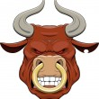 A bull's head — Stock Vector