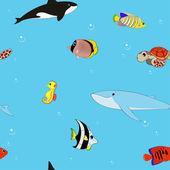 Mořské pozadí — Stock vektor