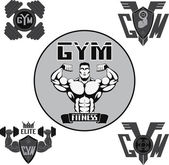 Vector set: gym — Stock Vector