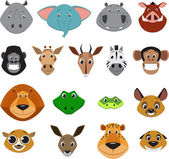 Cute colorful exotic animals collection — Stock Vector