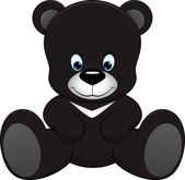 Cute teddy bear — Vector de stock