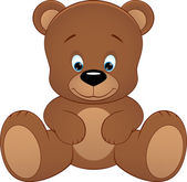 Cute teddy bear — Vettoriale Stock