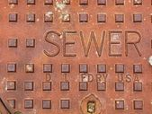 Sewer Manhole Cover — Stock Photo