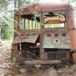 Stock Photo: Abandoned Bus