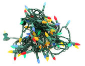 Tangled LED Christmas Lights — Stock Photo