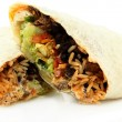 Sliced Burrito On White Background — Stock Photo
