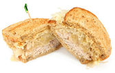 Turkey Reuben Sandwich — Stock Photo