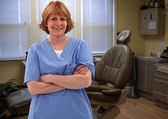 Smiling Hygentist In Room — Stock Photo