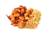 Orange Chicken And Rice — Stock Photo