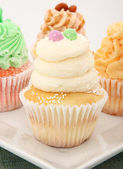 Various Types Of Cupcakes — Stock Photo