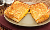 Grilled Cheese Sandwhich — Stock Photo